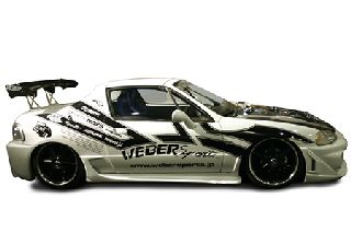 WEBERSPORTS(ウェーバースポーツ) ホンダ CR-X 代引き不可■CR-X デルソル サイドスカート