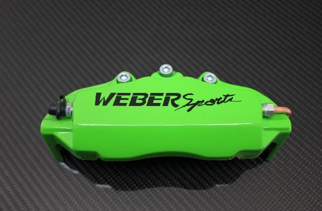 WEBERSPORTS ウェーバースポーツ キャリパーカバー 最安値に挑戦 購買 フロント Kグリーン LA400K コペン