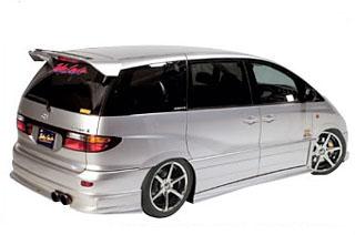 Takeros(タケローズ) トヨタ エスティマ リアスポイラー タケローズ ACR/MCR エスティマ リアハーフスポイラー VOL.1