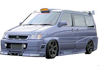 Takeros(タケローズ) ホンダ ステップワゴン フロントスポイラー タケローズ RF1~4 ステップワゴン フロントバンパースポイラーVOL.1