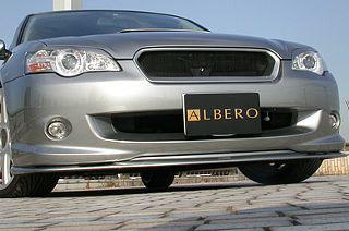 ALBERO(アルベロ) フロントバンパースポイラー BL レガシィ A-C型 (純正色塗装)