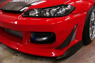 Feizdesgin フェィズデザイン S15シルビア GTカナード カーボン (Feizフロントバンパー用)