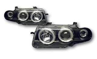 SONAR(ソナー) ヘッドライト オペル アストラ エンジェルアイ プロジェクター ヘッドライト ブラック インナー 95-97 オペル アストラF