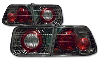 ●限定特価!●SONAR(ソナー) テールライト ホンダ シビック ユーロ テール ランプ ブラック インナー クリスタル レンズ EJ7 シビック 2ドア