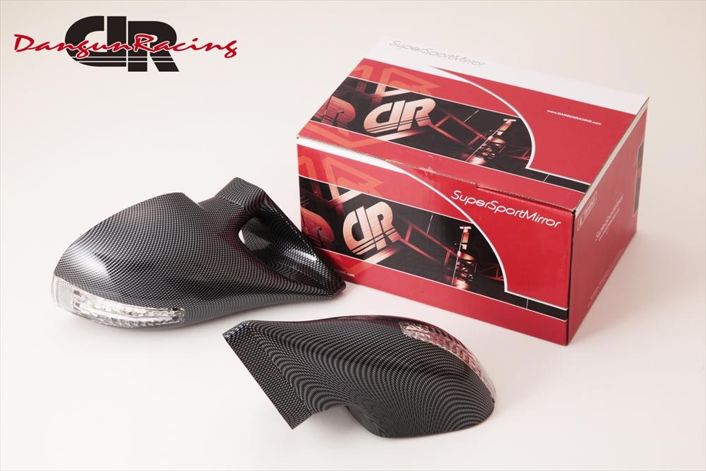 SuperSportMirror(スーパースポーツミラー) 三菱 ギャランフォルティス ドアミラー DTM2ミラーLED カーボンルック/手動 CY4A ギャランフォルティス