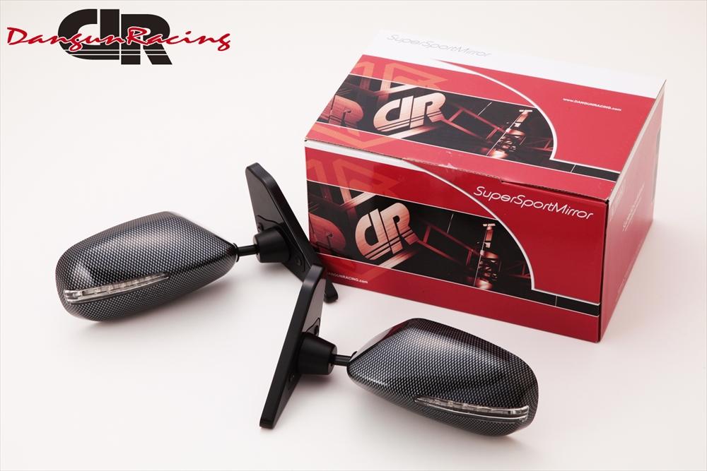 SuperSportMirror(スーパースポーツミラー) 三菱 ランサー ドアミラー GT2ミラーLED カーボンルック/手動 CZ4A ランサー エボリューションX