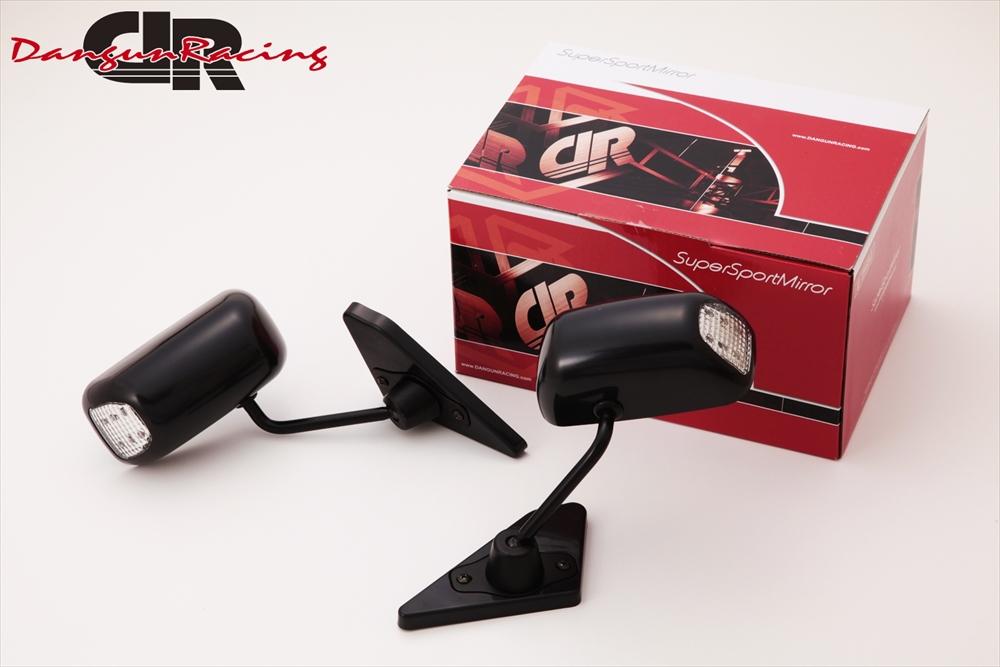 SuperSportMirror(スーパースポーツミラー) ホンダ アコード ドアミラー GT1ミラーLED ブラック/手動/左ハンドル車 CD系/CF1 アコード