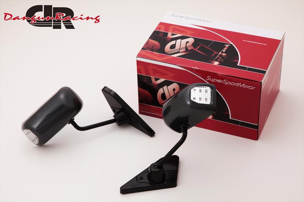 SuperSportMirror(スーパースポーツミラー) 三菱 ギャランフォルティス ドアミラー GT1ミラーLED カーボンルック/手動 CY4A ギャランフォルティス