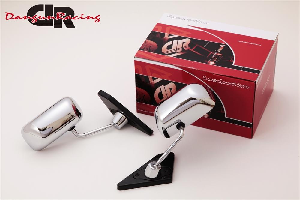 SuperSportMirror(スーパースポーツミラー) ホンダ シビック ドアミラー GT1ミラー クローム/手動/右ハンドル車(ベースリアルカーボン) FD1/2 シビック
