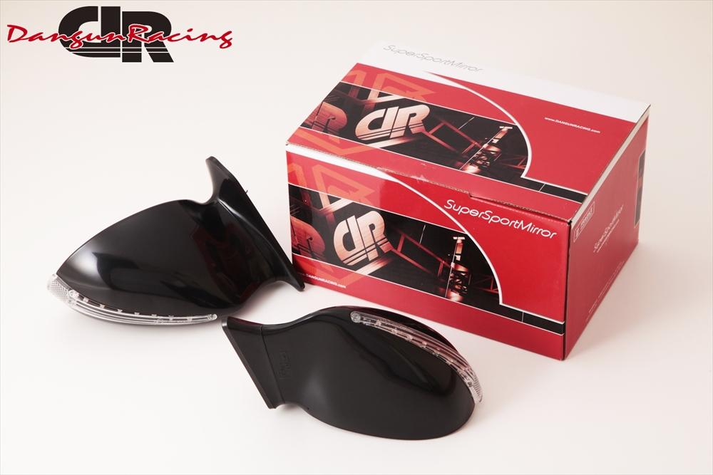 SuperSportMirror(スーパースポーツミラー) クライスラー PTクルーザー ドアミラー V8SミラーLED ブラック/手動/右ハンドル車 01-UP PTクルーザー
