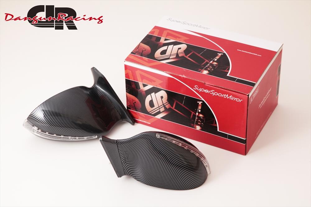 SuperSportMirror(スーパースポーツミラー) 三菱 ギャランフォルティス ドアミラー V8SミラーLED カーボンルック/手動 CY4A ギャランフォルティス