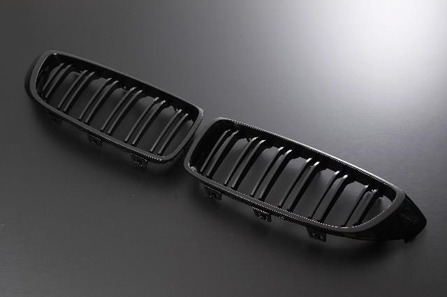 ●限定特価!●Europarts(ユーロパーツ) BMW 4シリーズ F32 グリル キドニーグリル BMW 4シリーズ F32 Mルック 12-UP グロスブラック