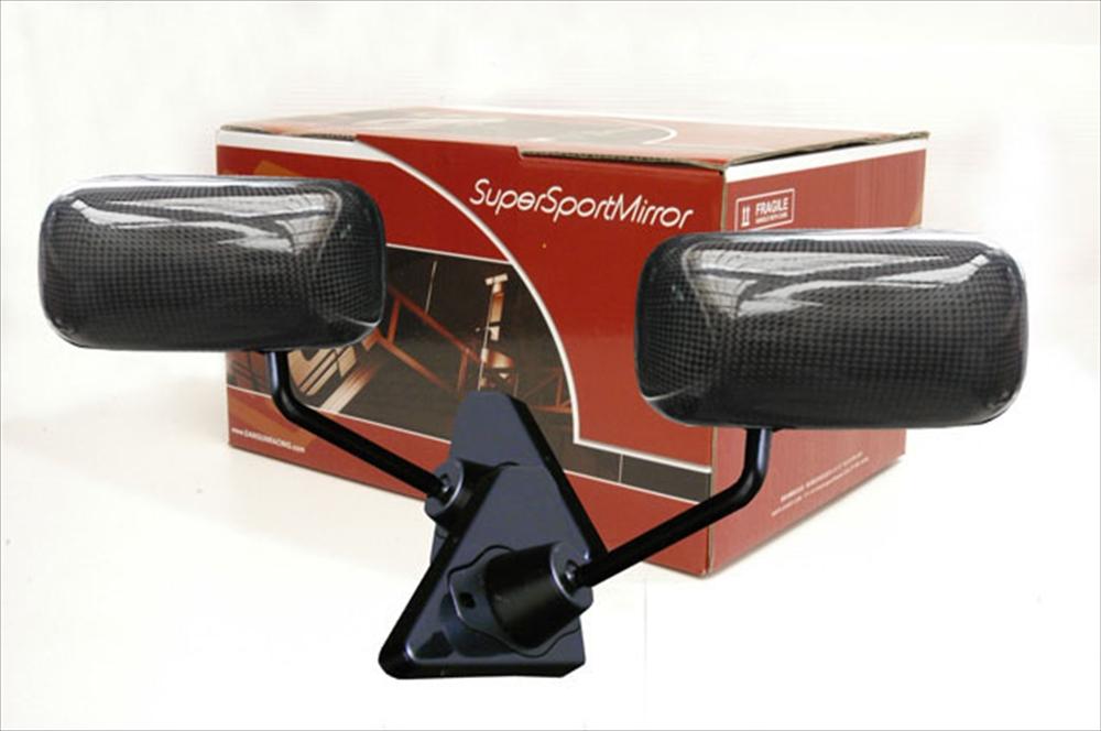 SuperSportMirror(スーパースポーツミラー) ホンダ シビック GT1ミラー リアルカーボン/手動/右ハンドル車(ベースリアルカーボン) FD1/2 シビック