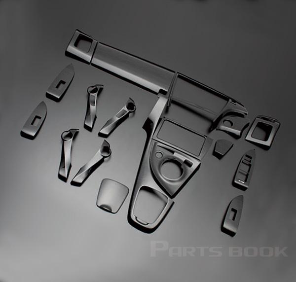プリウス(ZVW30系) 3D インテリアパネル 33ピース/33P[ピアノブラック] インテリアウッドパネル/内装/インパネ