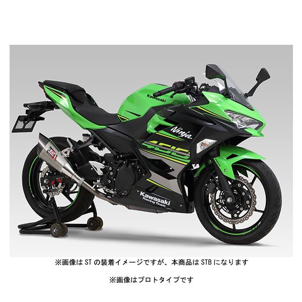 ヨシムラ Slip-On R-11サイクロン EXPORT SPEC マフラー [STB] Ninja250('18)/Ninja400('18) 110-235-5E80B