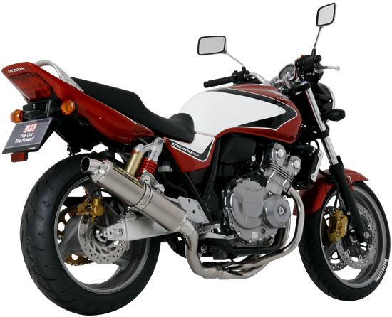 ヨシムラ CB400SF('08) 機械曲チタンサイクロン TS (ステンレスカバー)FIRE SPEC仕様 110-458F8250