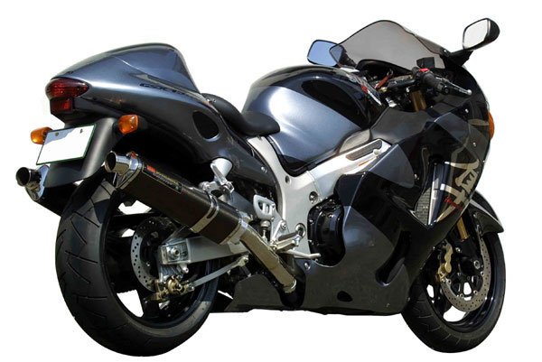 ヨシムラ GSX1300R(-06)用 スリップオンTri-Ovalサイクロンマフラー:1エンド(SS) 110-502-5451