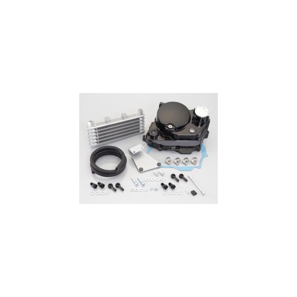 キタコ NSF100 ウルトラクラッチカバー&オイルクーラーキット(ブラック) 317-1418150