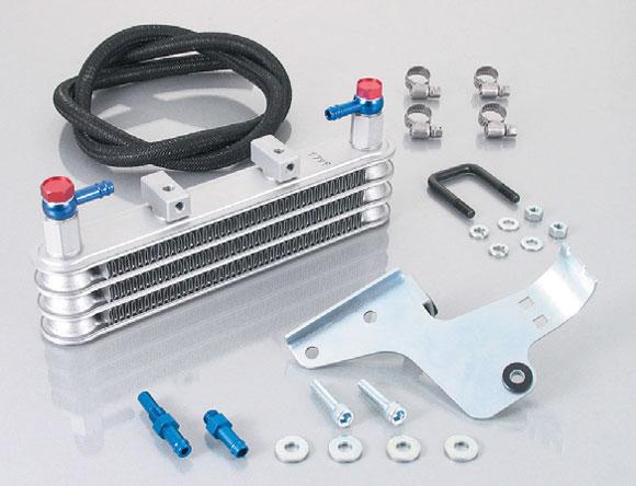 キタコ XR50/100モタード ニュースーパーオイルクーラーKIT ノーマルクランクケースカバー加工(3段コア) 360-1134100