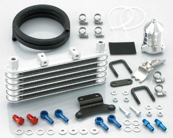キタコ エイプ50/100 ニュースーパーオイルクーラーKIT キタコ社製シリンダー(115cc~)・オイルフィルター付(5段コア) 360-1413800