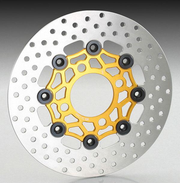 キタコ グロム/PCX・PCX150/SHモード/ズーマーX用 フローティングディスクローター[ゴールド/ブラック] 500-1432730