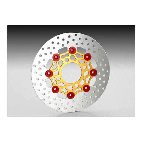 キタコ フローティングディスクローター[ゴールド/レッド]  モンキー125/GROM/ディオ110/PCX125/PCX150 500-1432750