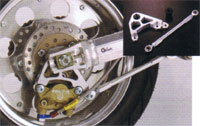 Gクラフト エイプ APE50/100用 リアフローティングKIT:ブレンボ2Pキャリパー(カニ)用 G33135