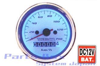 武川 12V汎用 ブルーLEDスピードメーター SP09-01-0051