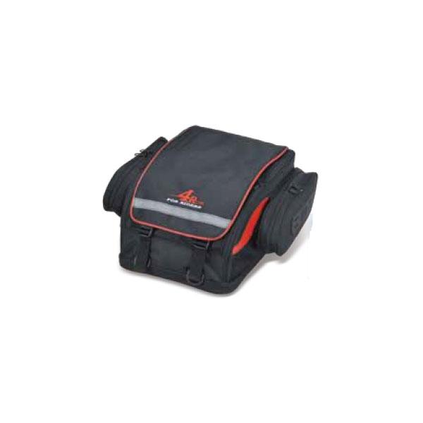 キジマ ツーリングシートバッグ ブラック/レッド 260x350x180(+80) FR-A00025