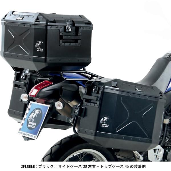 ヘプコ&ベッカー XPLORER サイドケース30 左右+トップケース45 3BOXセット/ブラック HBS-XPR-ALL-B