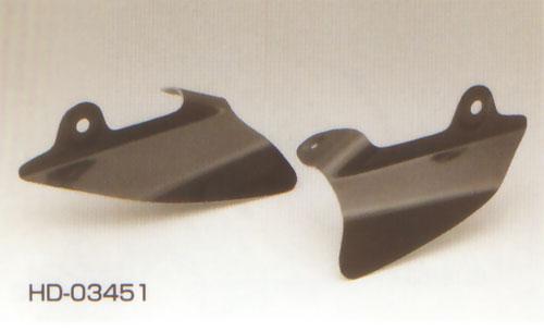 キジマ ハーレーFLH97y-06y用 サドルヒートガード(FRP製黒ゲルコート) HD-03451