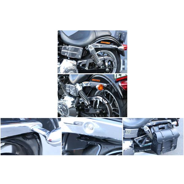 キジマ ハーレー FXDL('06~'17) サドルバッグガード DHW対応 ブラック 左側用 HD-08009