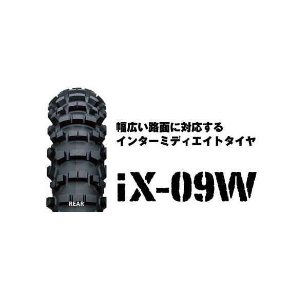 IRC IX-09W リア 110/90-19 62M WT IRC110642