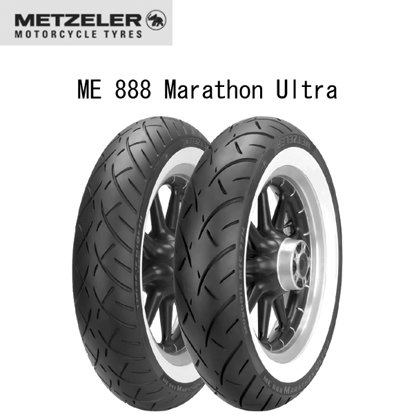 メッツラー METZELER 2407500 ME 888 Marathon Ultra フロント MT90 B 16 M/C 72H TL WHITEWALL MT8019227240757