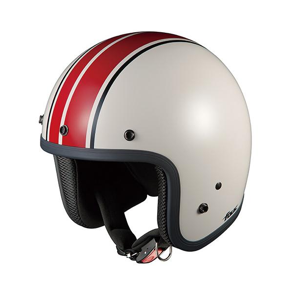 OGKカブト ジェットヘルメット FOLK G1(フォーク G1) ホワイトレッド/(57~59cm) O4966094551506