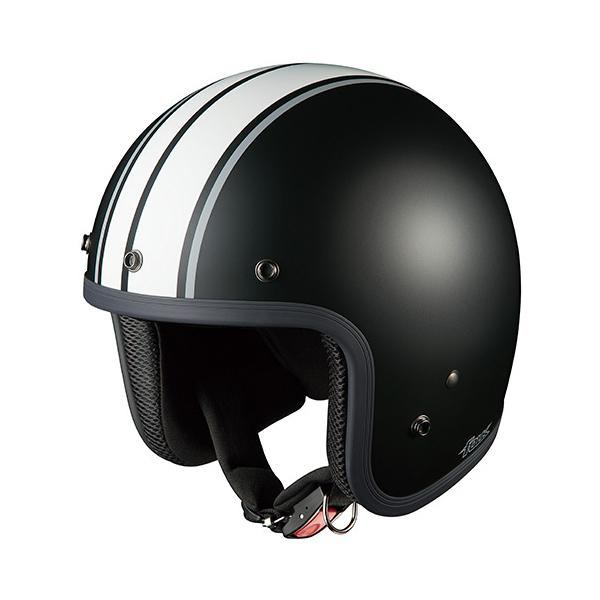 OGKカブト ジェットヘルメット FOLK G1(フォーク G1) フラットブラックホワイト/(57~59cm) O4966094551513