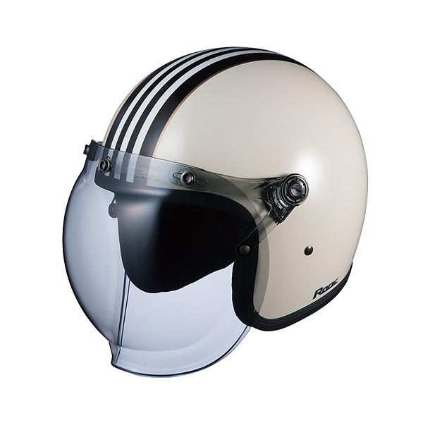 【○在庫あり→5月20日出荷】OGKカブト ジェットヘルメット ROCK G1(ロック G1) ホワイトブラック/(57~59cm) O4966094554613