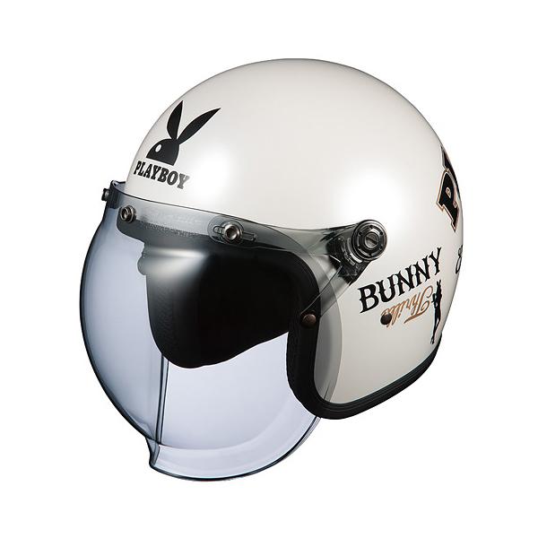 OGKカブト ジェットヘルメット ROCK PLAYBOY(ロック プレイボーイ) パールホワイト-4/(57~59cm) O4966094559984