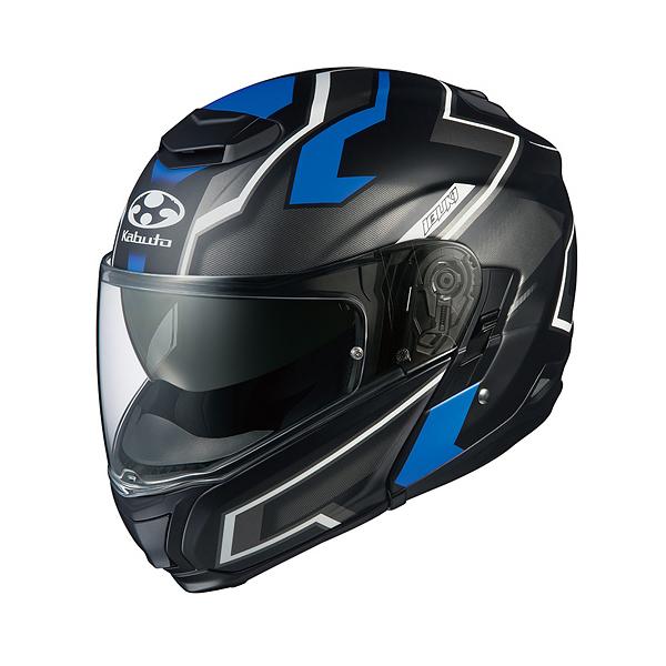 OGKカブト IBUKI DARK(イブキ ダーク) フラットブラックブルー/XXL(63-64cm) O4966094571306