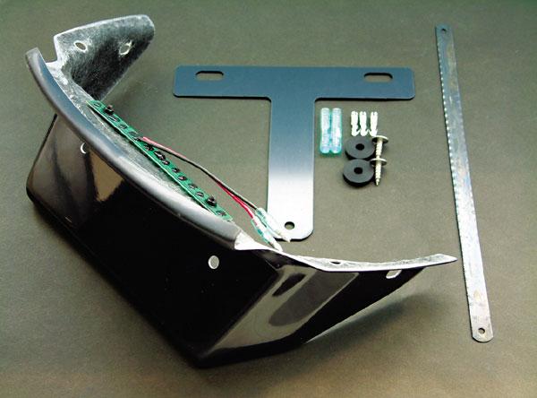 【○在庫あり→10月1日出荷】POSH T-MAX -07用 FRPリアフェンダーレスキット LEDナンバー灯仕様 P025090