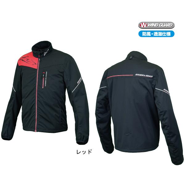 ラフ&ロード RR7977 ウインドガードウォームジップシャツ [レッド Mサイズ] RR7977RD2