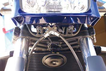 スウェッジライン ZRX1200 DAEG(ダエグ)用 スウェッジラインPRO フロント トライピース レッド/ブルー