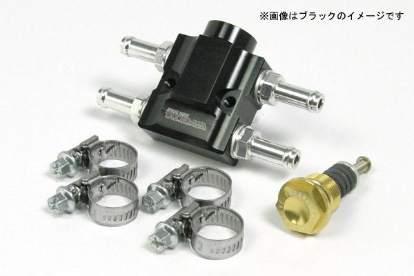 武川 汎用 インラインサーモユニットキット シルバー (ラバーホース用) SP07-07-0030