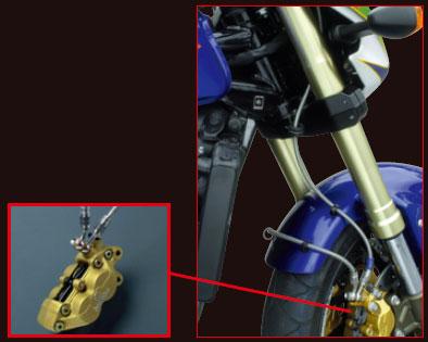 スウェッジライン CBR600RR 09用 スウェッジラインPRO フロント バイピース ステンレス