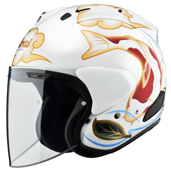 【○在庫あり→5月19日出荷】アライ 東単オリジナルヘルメット VZ-Ram 錦鯉[VZラム ニシキゴイ]  ホワイト/S(55-56cm) VR-NISWH-55