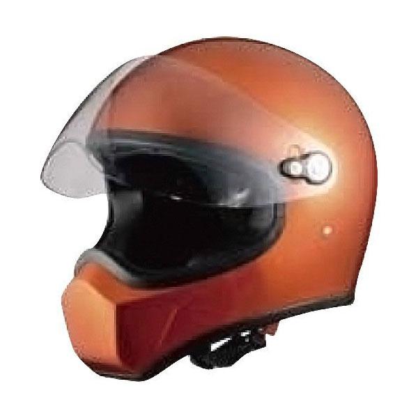 【○在庫あり→3月24日出荷】シレックス Silex/FUJIN/風神/フルフェイスヘルメット カラー:ORANGE_METALLIC サイズ:M(57cm-58cm) ZS730-OMM