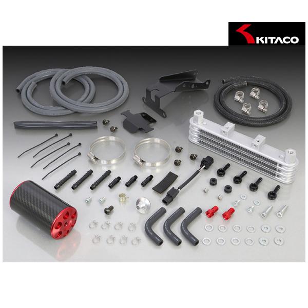 キタコ スーパーオイルクーラーキット 3段コア+オイルキャッチタンク付(レッド)  モンキー125(JB02) 360-1300120