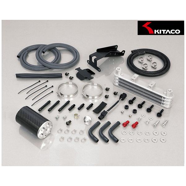 キタコ スーパーオイルクーラーキット 3段コア+オイルキャッチタンク付(シルバー)  モンキー125(JB02) 360-1300160