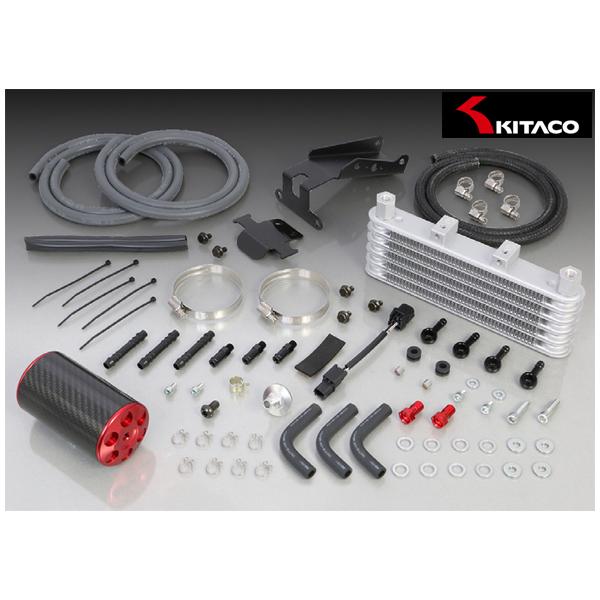 キタコ スーパーオイルクーラーキット 5段コア+オイルキャッチタンク付(レッド)  モンキー125(JB02) 360-1300220