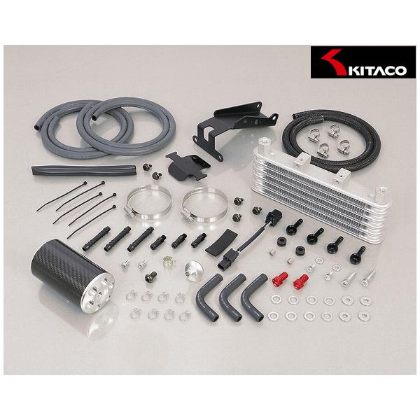 キタコ スーパーオイルクーラーキット 5段コア+オイルキャッチタンク付(シルバー)  モンキー125(JB02) 360-1300260